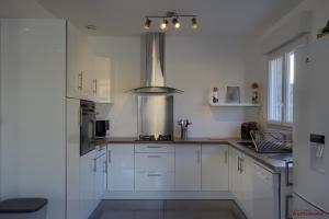 Cuisine ou kitchenette dans l'établissement 2 Maisons à louer à Montalieu