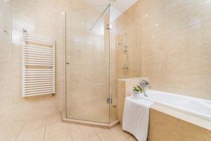 Vonios kambarys apgyvendinimo įstaigoje Apartamenty w Pałacu Pod Baranami