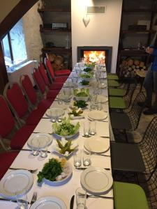 A restaurant or other place to eat at Hadji Amina Villa with Car Rental