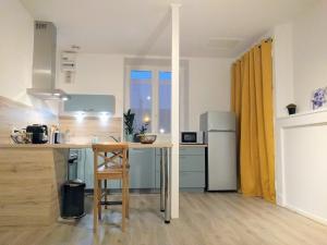 Cuisine ou kitchenette dans l'établissement Charmant T2 de 47 m2 en centre-ville