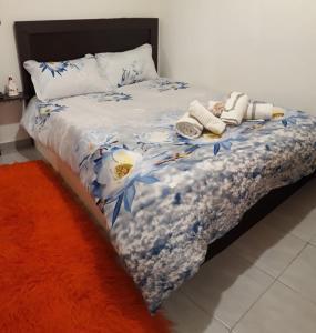 Кровать или кровати в номере Kostas and Krista apartment