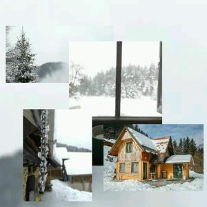 Apartment glamping house Maruša om vinteren