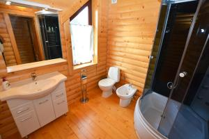 A bathroom at Villa Oleksy