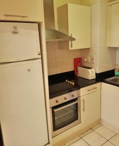 A kitchen or kitchenette at Halfpenny Bridge Holiday Homes - Garden
