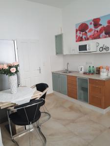 Küche/Küchenzeile in der Unterkunft Apartment near City Center 2nd District