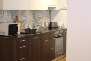 A kitchen or kitchenette at Haus Siegfried
