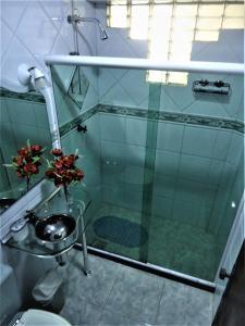 A bathroom at Vila do Sossego