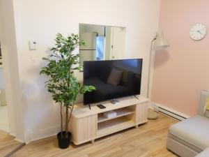 A television and/or entertainment center at JstLikeHome - Downtown Suites