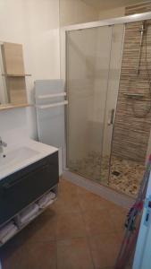 A bathroom at l'ourson, 5 La Vionnière