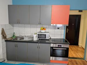 A kitchen or kitchenette at Sony Apartments
