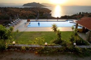 A view of the pool at Aelia Villa or nearby