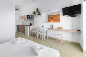 A television and/or entertainment center at Pefkos View Suites & Maisonette