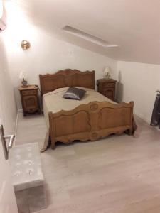 Un ou plusieurs lits dans un hébergement de l'établissement Gîte Maffiole