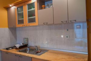 A kitchen or kitchenette at Apartments Raj