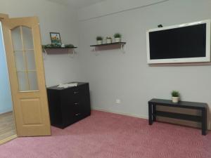 A television and/or entertainment center at Apartments naprotiv vokzala