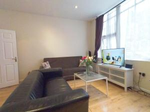 A television and/or entertainment center at Lilac at Hammersmith