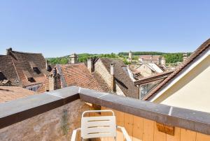 Ein Balkon oder eine Terrasse in der Unterkunft Auberge du Mouton