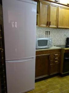 A kitchen or kitchenette at Anforas Mar Apart Creixell