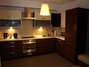 A kitchen or kitchenette at Apartament przy parku
