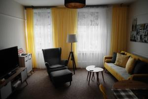 Ein Sitzbereich in der Unterkunft Central Located One Bedroom Apt