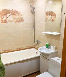 A bathroom at Apartment on Svobody street