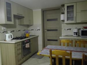 A kitchen or kitchenette at Kwatery na Rogu