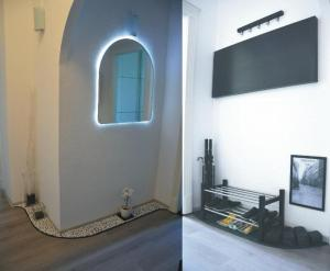 A television and/or entertainment center at Szőcs Apartment I. (80sqm, fully equipped+balcony)