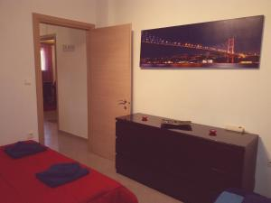 A television and/or entertainment center at Luxury apartment near the center of Thessaloniki