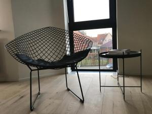 A seating area at Private room in a shared apartment