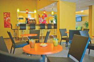 En restaurant eller et andet spisested på Les Balcons du Canigou