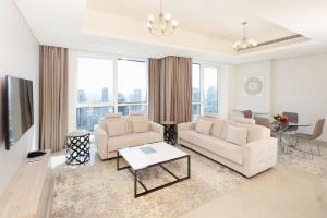 Зона вітальні в Barceló Residences Dubai Marina