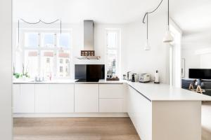 Cuisine ou kitchenette dans l'établissement Three-bedroom Pure-LUX apartment prime location Copenhagen