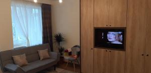 A television and/or entertainment center at Boem Studio