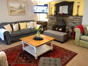 A seating area at Penty Cottage