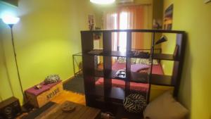 A bunk bed or bunk beds in a room at Studio in Athens center