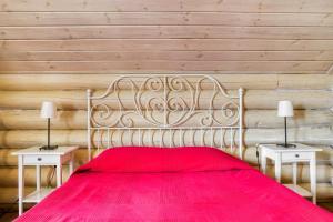 Кровать или кровати в номере Эко Отель Новый Ковчег