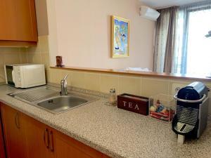 Kuhinja ili čajna kuhinja u objektu Studio +Wellness +Parking