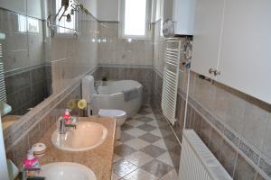 A bathroom at Rajczi 2 Apartman