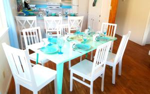 A restaurant or other place to eat at Oceano: Short walk to beach, 4 br, 2 bath, private house! Across street from park & pond
