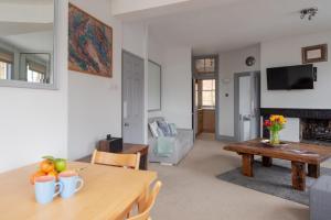 Zona de estar de The View Apartment, Hampstead