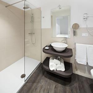 A bathroom at Studio Inn Centrale