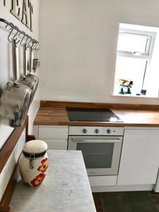 A kitchen or kitchenette at The Annexe at Ivythorn Cottage