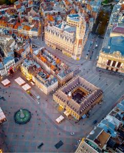 A bird's-eye view of Grand Place Appart, Green