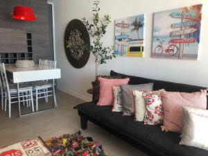A seating area at Apartamento 162 Reñaca Mar Vista