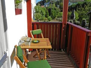 Ein Balkon oder eine Terrasse in der Unterkunft Apartment Morgenstrasse