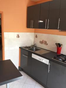 Cuisine ou kitchenette dans l'établissement Melyne Location