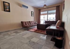 A seating area at West House Apartments Hamra
