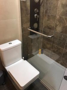 Vonios kambarys apgyvendinimo įstaigoje Apartamento no Centro da Cidade de Amarante