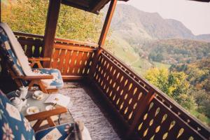 A balcony or terrace at Relax your soul - in Paradise =)
