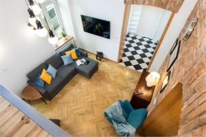 A seating area at Luxurious Loft Gertruda